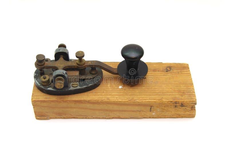 Battitore di codice Morse isolato immagini stock