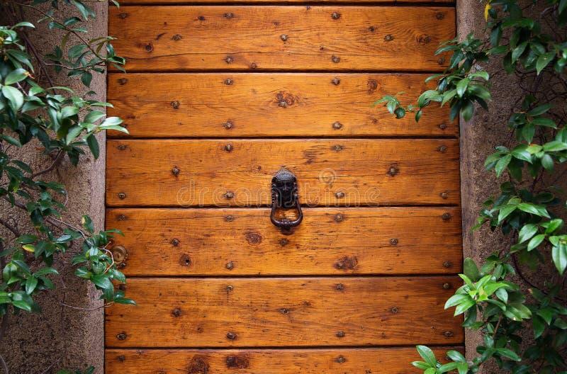 Battitore di porta su una porta di legno immagine stock libera da diritti