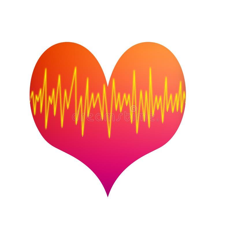 Download Battitura del cuore illustrazione vettoriale. Illustrazione di attacco - 3885354