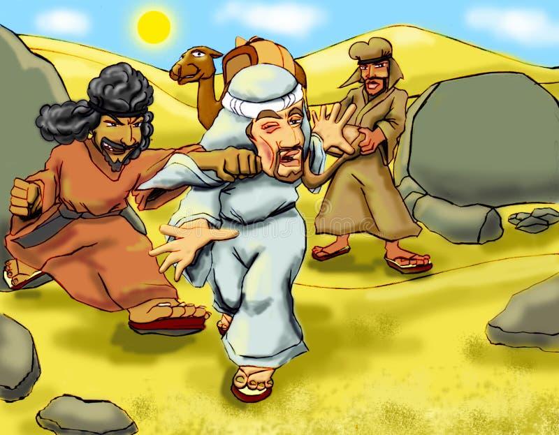 Battitura del samaritano illustrazione vettoriale