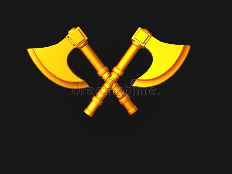 Battle Axe royalty free illustration