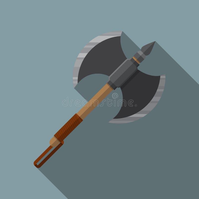 Battle axe icon. vector illustration