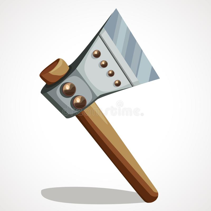 Battle axe steel royalty free illustration