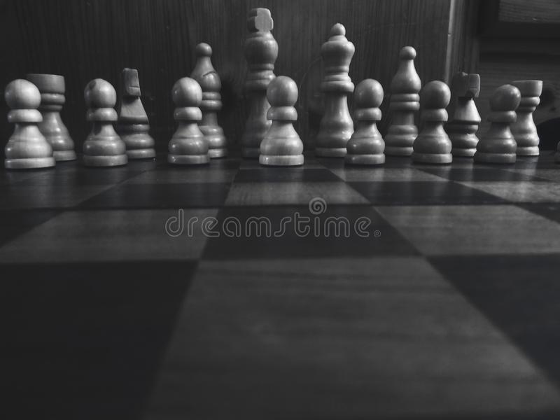 Battle, Black-and-white, Board royalty free stock photos