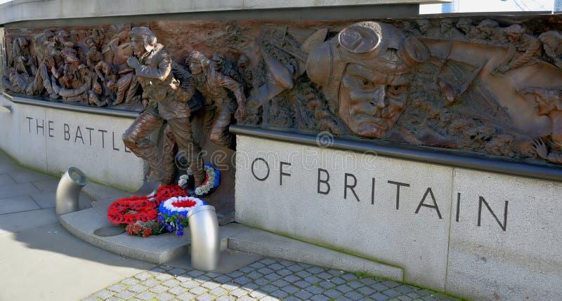 Battle of Britain Memorial - London - UK royalty free stock photo