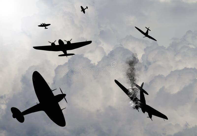 Battle of Britian scene stock illustration