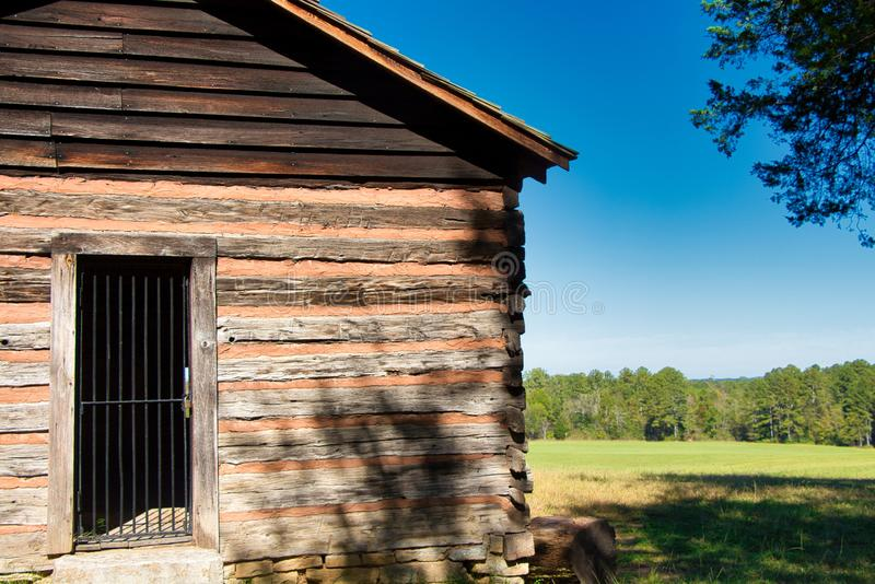 Log House in Chickamauga Georgia. royalty free stock images