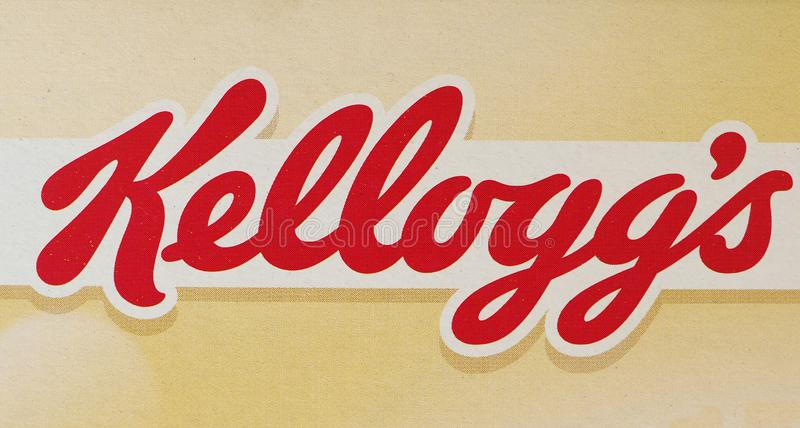 BATTLE CREEK - AUG 2019: Kellogg's sign. BATTLE CREEK, USA - CIRCA AUGUST 2019: Kellogg's sign royalty free stock photos