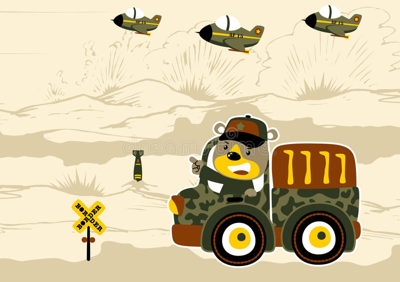Battle field vector illustration