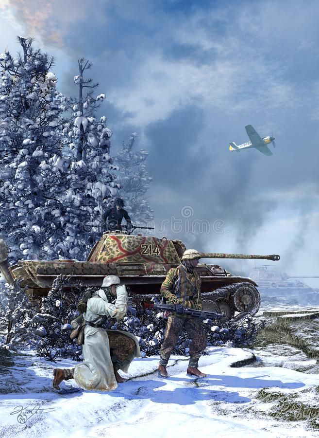 Free Battle Of The Bulge-German Panther Tank Stock Photo - 161309830