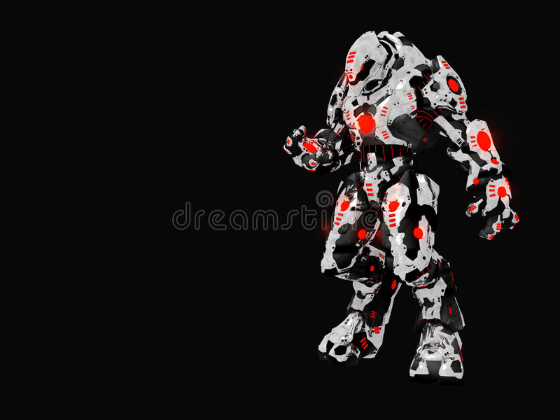 Battle robot vector illustration