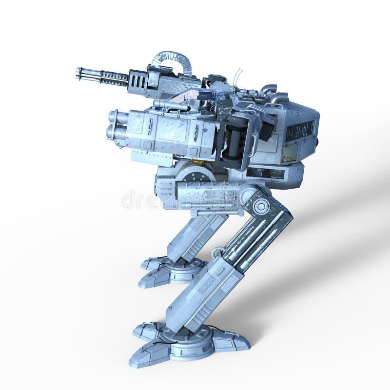 Battle robot vector illustration