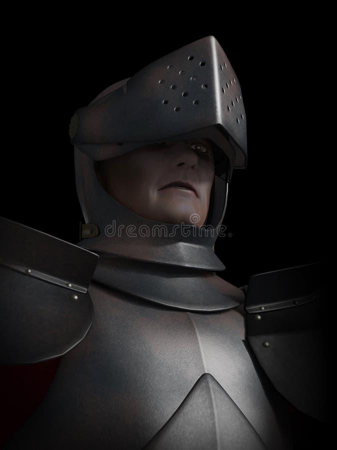 Battle Scarred Knight Portrait royalty free stock photo
