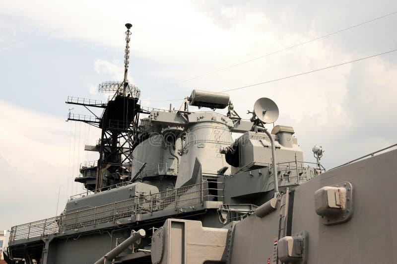 Battle ship. Museum of battle ship Wisconsin in Norfolk, Virginia royalty free stock photos