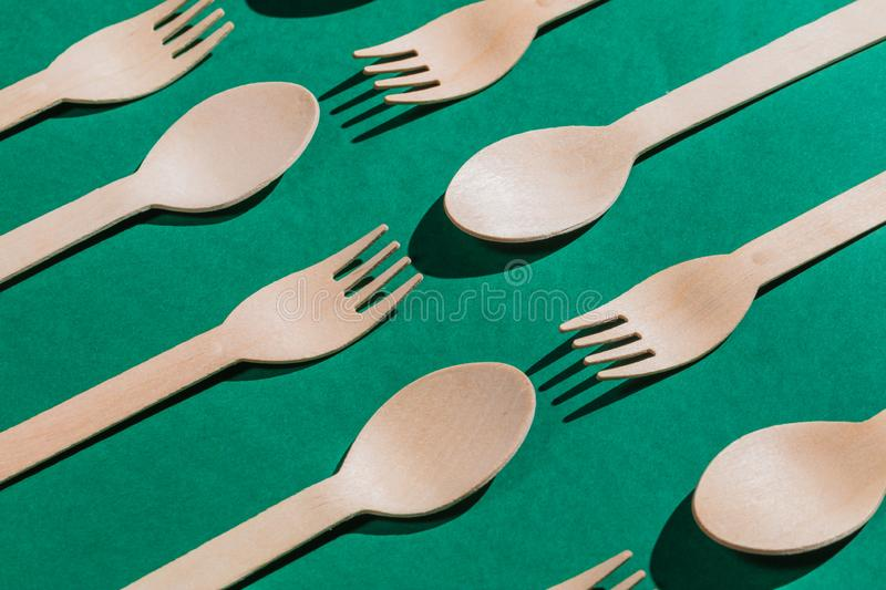 Battle among spoons and forks, stock photos