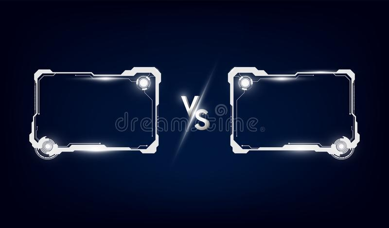 Battle vs match, game concept competitive vs. Vector illustration. Eps10 royalty free illustration