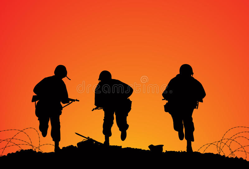 Battlefield stock illustration