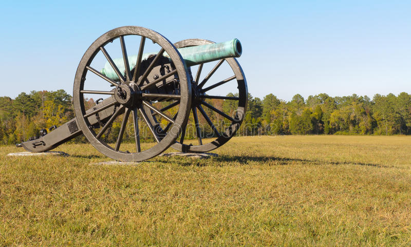 Battlefield cannon. At Chickamauga and Chattanooga National Military Park royalty free stock photography