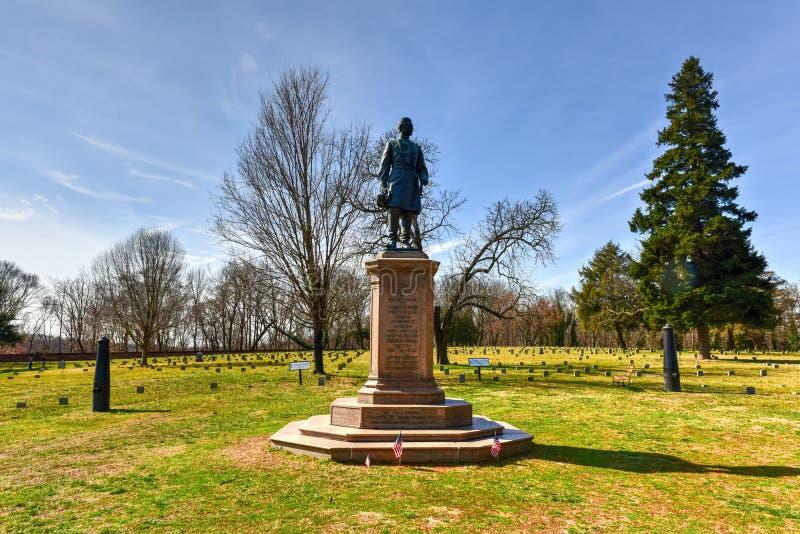 Battlefield - Fredericksburg, Virginia. Monument to General Humphrey on a Battlefield in Fredericksburg, Virginia stock image