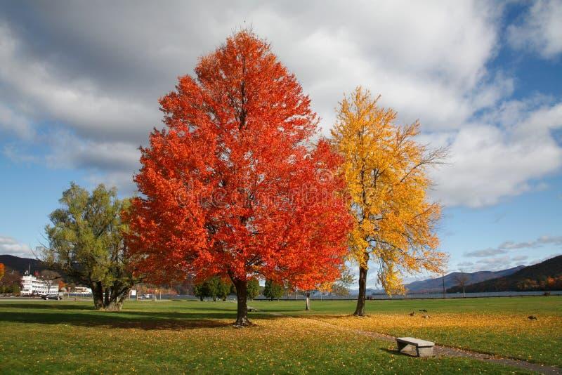 Battlefield Park. Lake George, Adirondack Mountains, New York stock photo