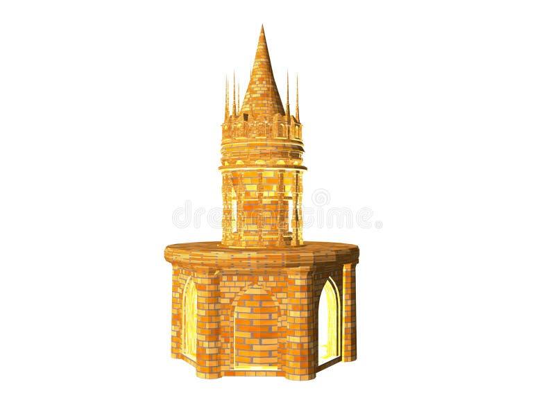 battlement πύργος κάστρων διανυσματική απεικόνιση