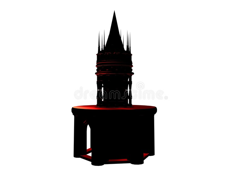 battlement πύργος κάστρων ελεύθερη απεικόνιση δικαιώματος