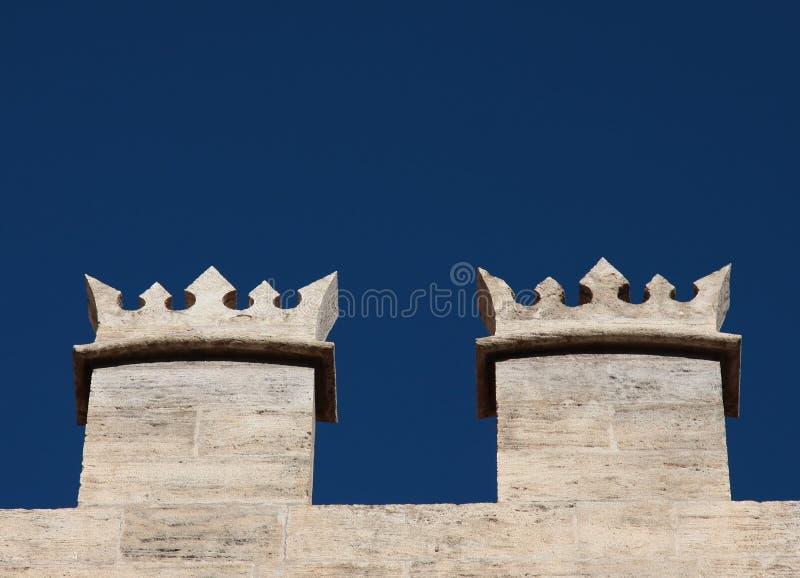 Battlement de um castelo imagens de stock