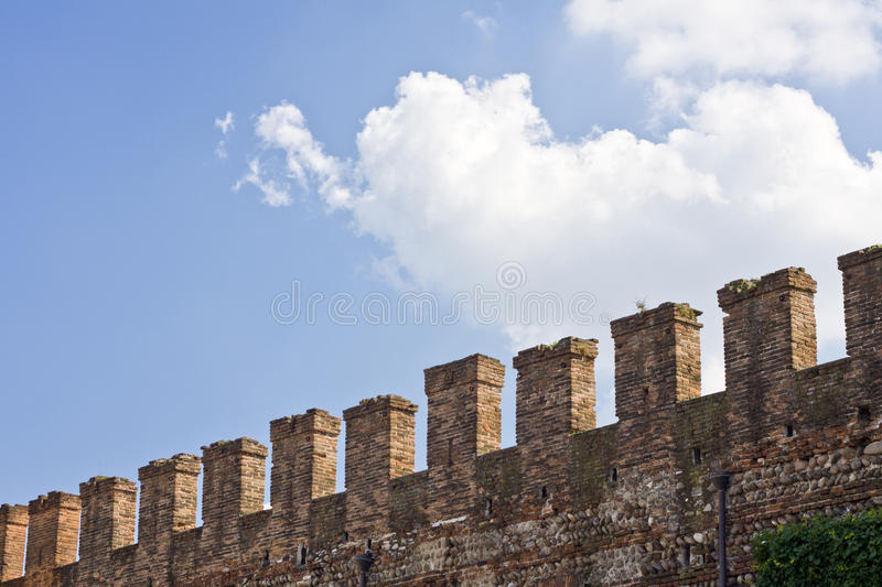 Download Battlements stock image. Image of wall, guard, blue, architecture - 20443185