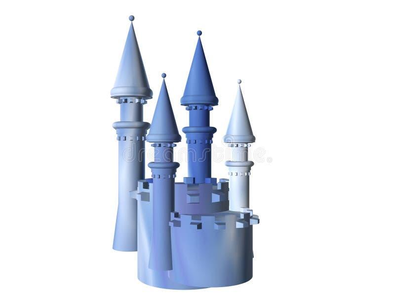 battlements błękit kasztelu marmur royalty ilustracja