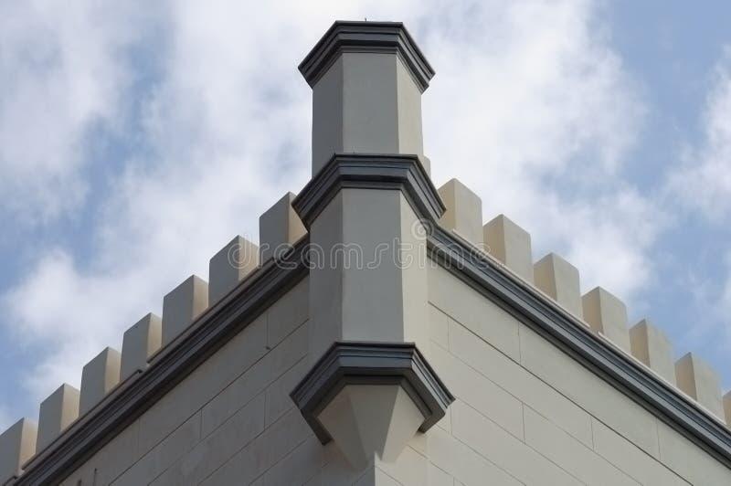 Battlements da torre fotografia de stock royalty free