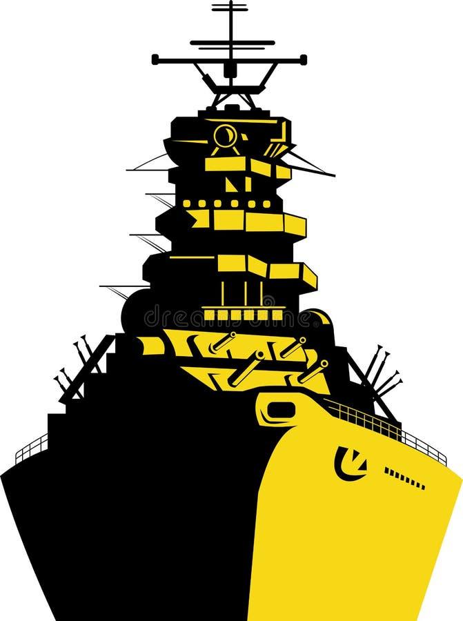 Battleship royalty free illustration