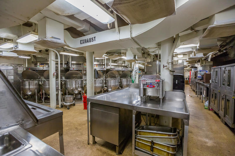 Battleship cooking room royalty free stock photography