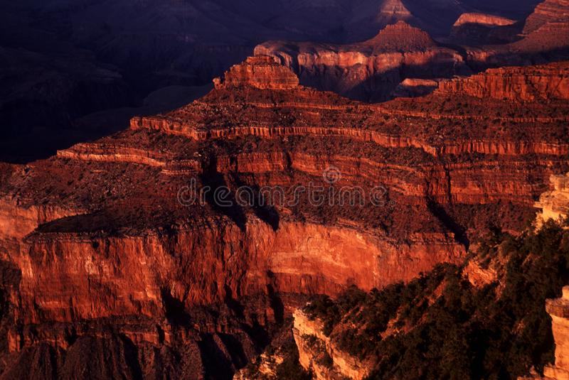 Battleship Point in the Grand Canyon royalty free stock photo
