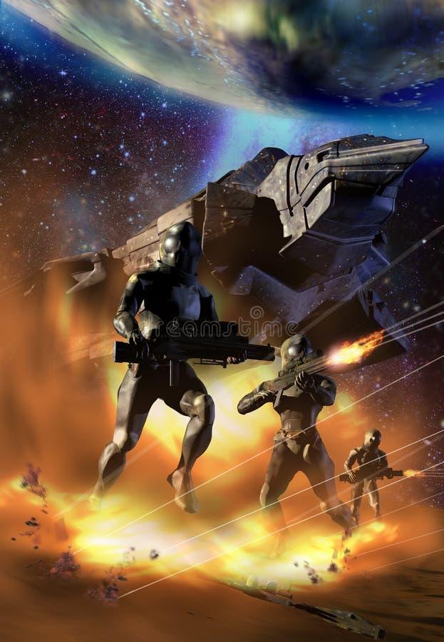 Battlestar royalty free illustration