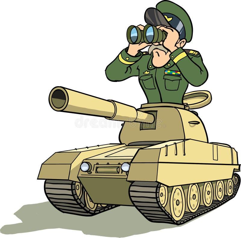 Battletankgeneral Fotografering för Bildbyråer