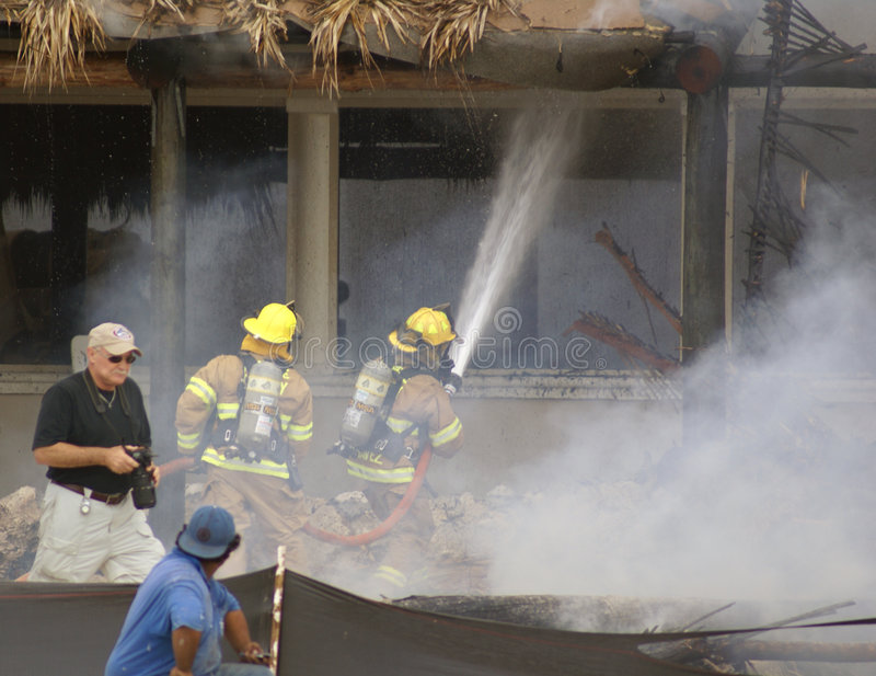 Download Battling The Blaze At Cheeca Lodge Resort Editorial Stock Image - Image of burning, dangerous: 9029939