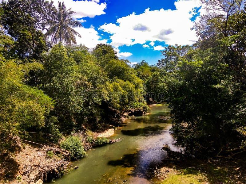 Batu Bassi River. Big river in batu bassi maros royalty free stock photography