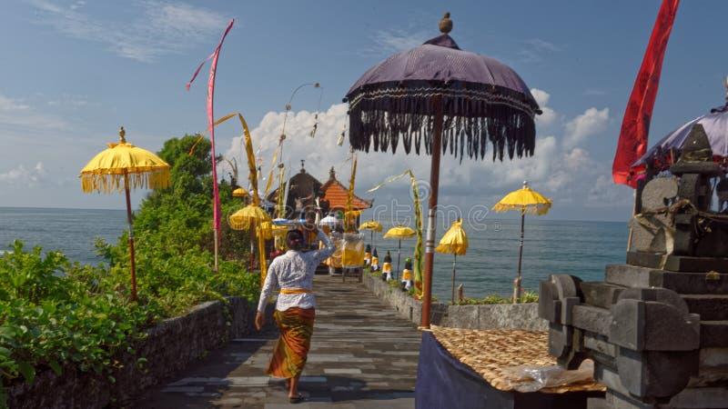 Batu Bolong temple. Entrance to Batu Bolong temple, Bali, Indonesia royalty free stock photography