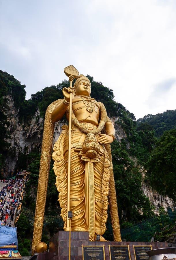 Batu cava com a estátua de Murugan em Malásia fotografia de stock royalty free