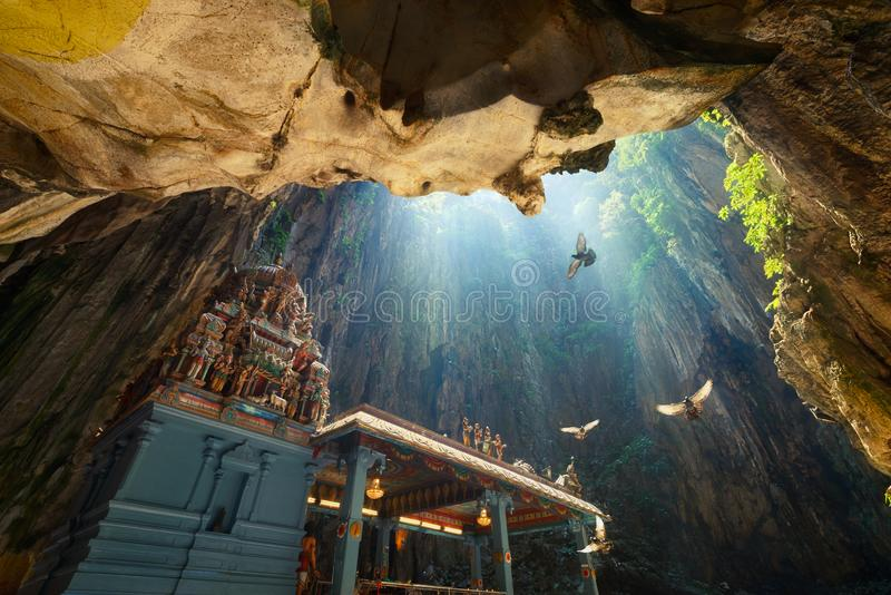 Batu cava o templo em Kuala Lumpur, Malásia imagem de stock
