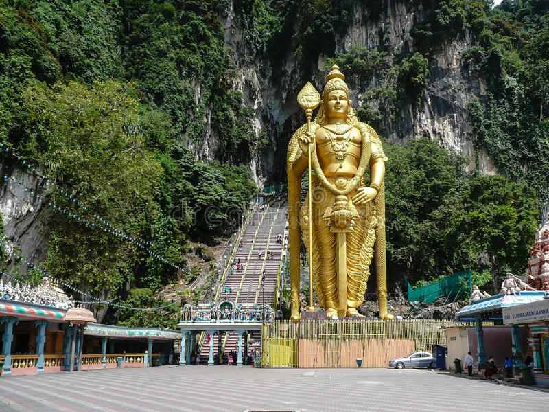 Batu cava turistas Kuala Lumpur malaysia imagem de stock
