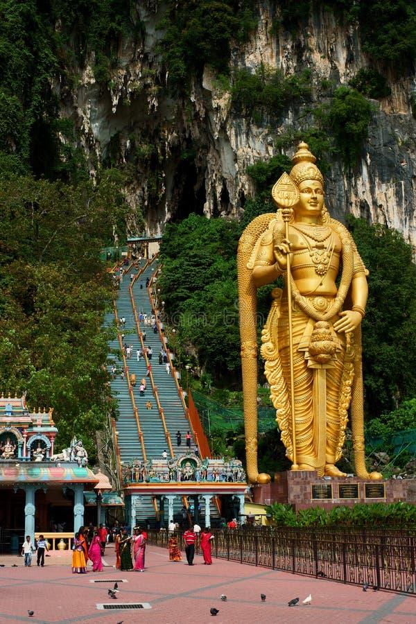 Batu Caves. Lord Murugan Statue at Batu Caves, Hindu shrine and temple in Kuala Lumpur, Malaysia
