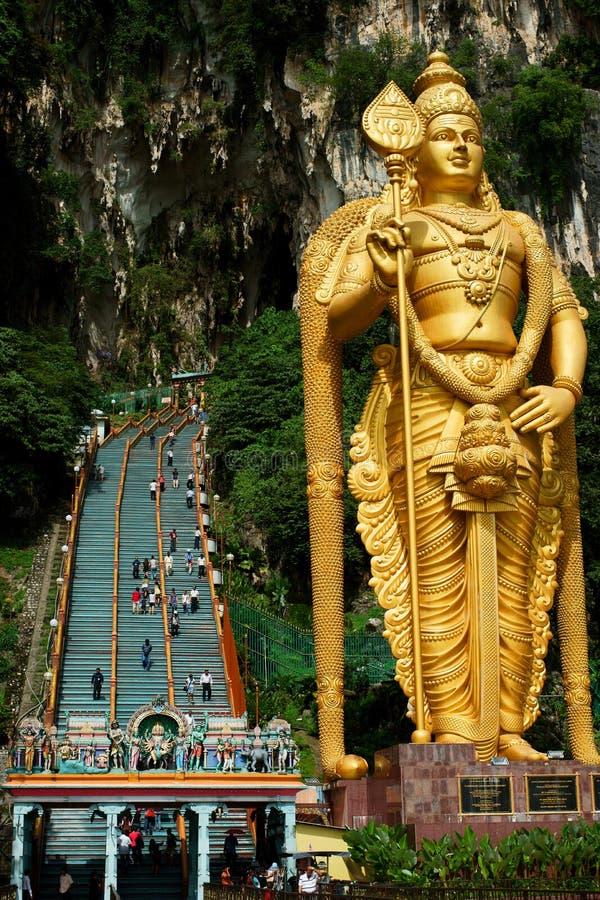 Batu Caves. Lord Murugan Statue at Batu Caves, Hindu shrine and temple in Kuala Lumpur, Malaysia stock image