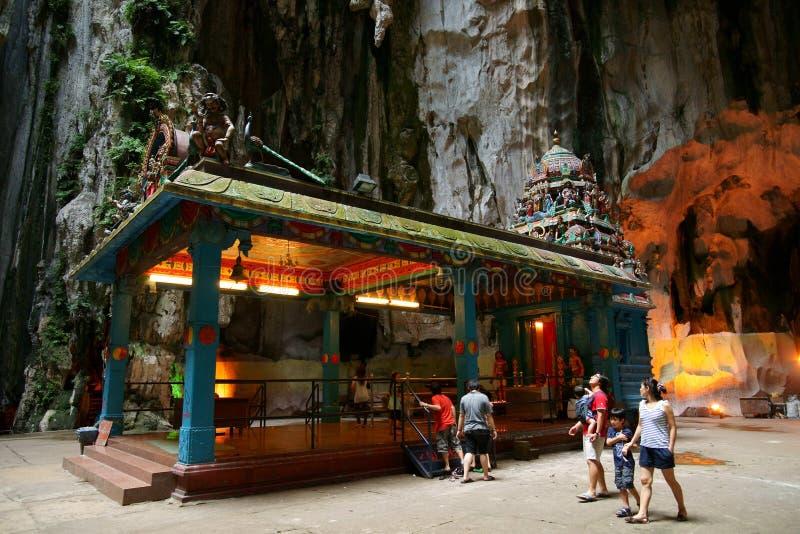 Batu Caves. Cave interior. Batu Caves, Hindu shrine and temple in Kuala Lumpur, Malaysia royalty free stock image