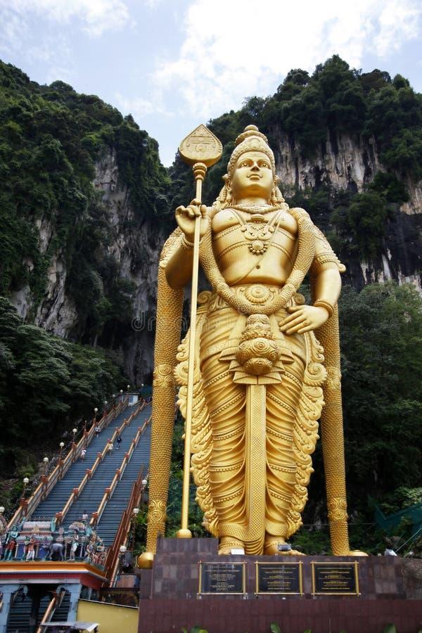 Batu caves are a hindu temple. On the outskirts of Kuala Lumpur stock image