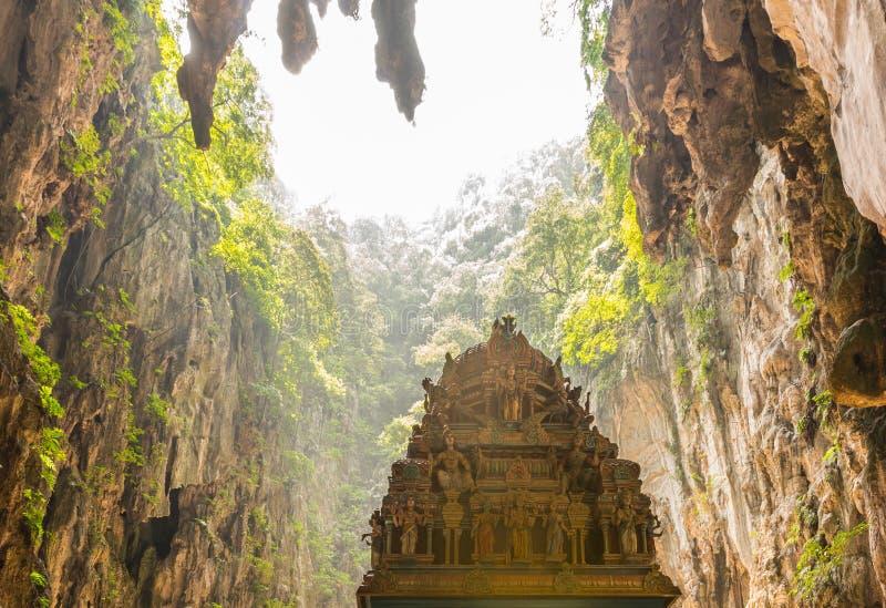 Batu caves in Malaysia. The Batu caves and the Hindu temple within in Malaysia stock image