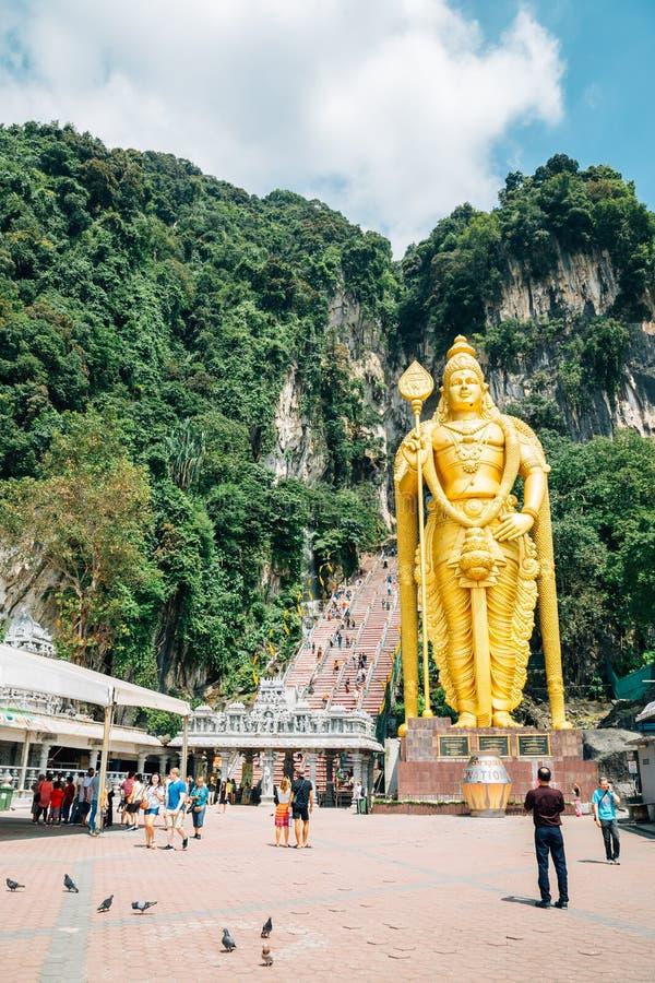 Batu excava a Lord Murugan Statue en Kuala Lumpur, Malasia fotos de archivo libres de regalías