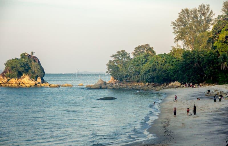 Batu Ferringhi, isola di Penang immagini stock