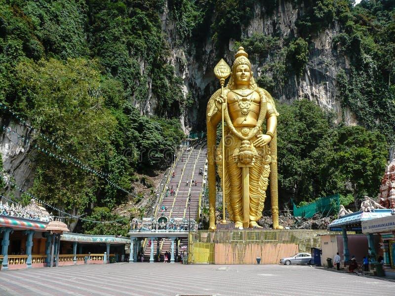 Batu foudroie des touristes Kuala Lumpur Malaisie image stock