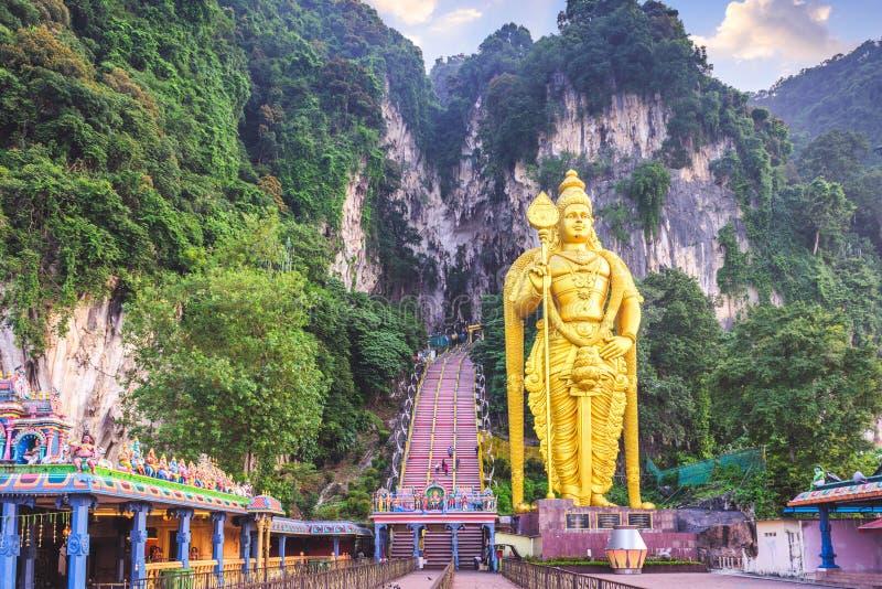 Batu foudroie la statue et l'entr?e pr?s de Kuala Lumpur, Malaisie images libres de droits